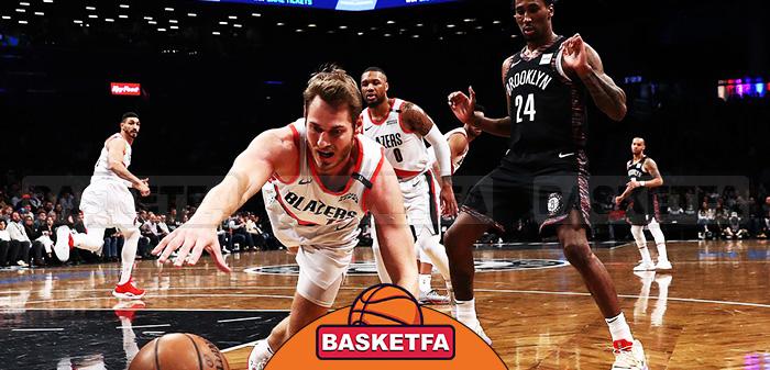 لیگ بسکتبال NBA پورتلند تریل بلیزرز بروکلین نتس