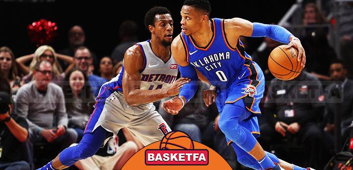 اوکلاهما سیتی و دیترویت در لیگ بسکتبال NBA