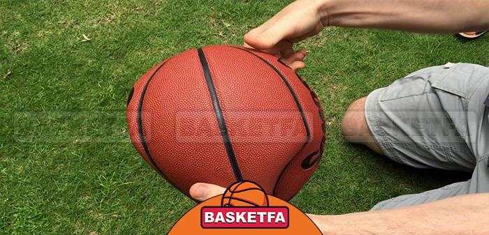 باد کردن توپ بسکتبال