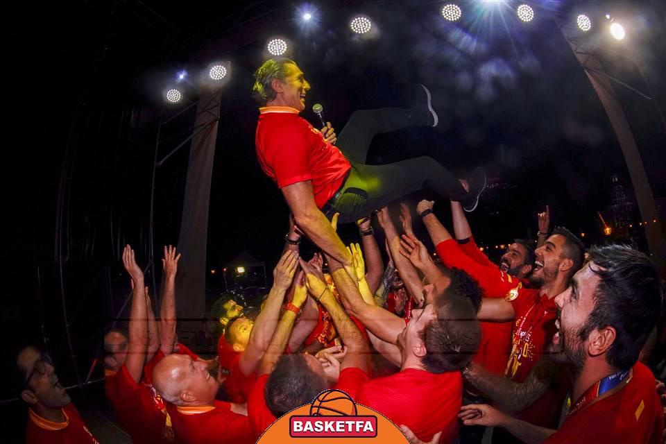جشن قهرمانی-تیم ملی بسکتبال اسپانیا