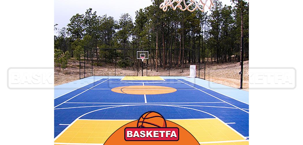 ساخت زمین بسکتبال