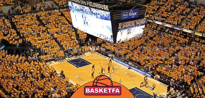 نمای داخلی یکی از سالن های بسکتبال NBA