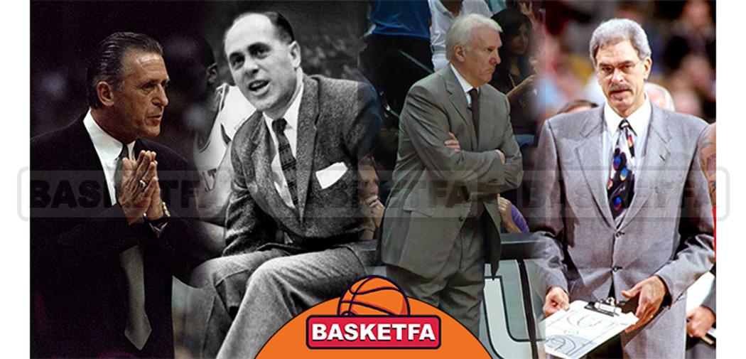 رده بندی بهترین مربیان NBA در تاریخ